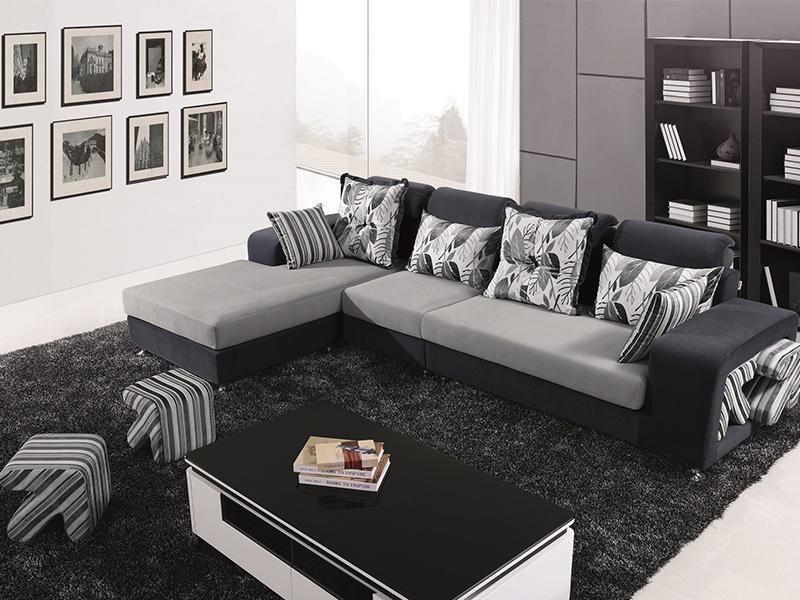 劍橋時尚L型布沙發