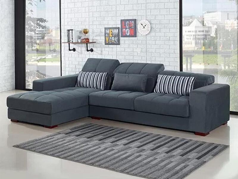 梵谷L型布沙發